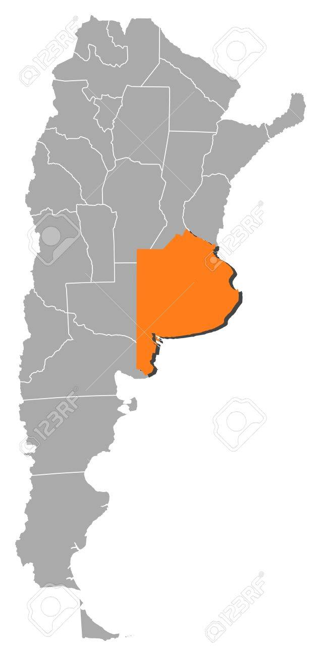 Political Map Of Argentina With The Several Provinces Where Buenos - Argentina map vector free