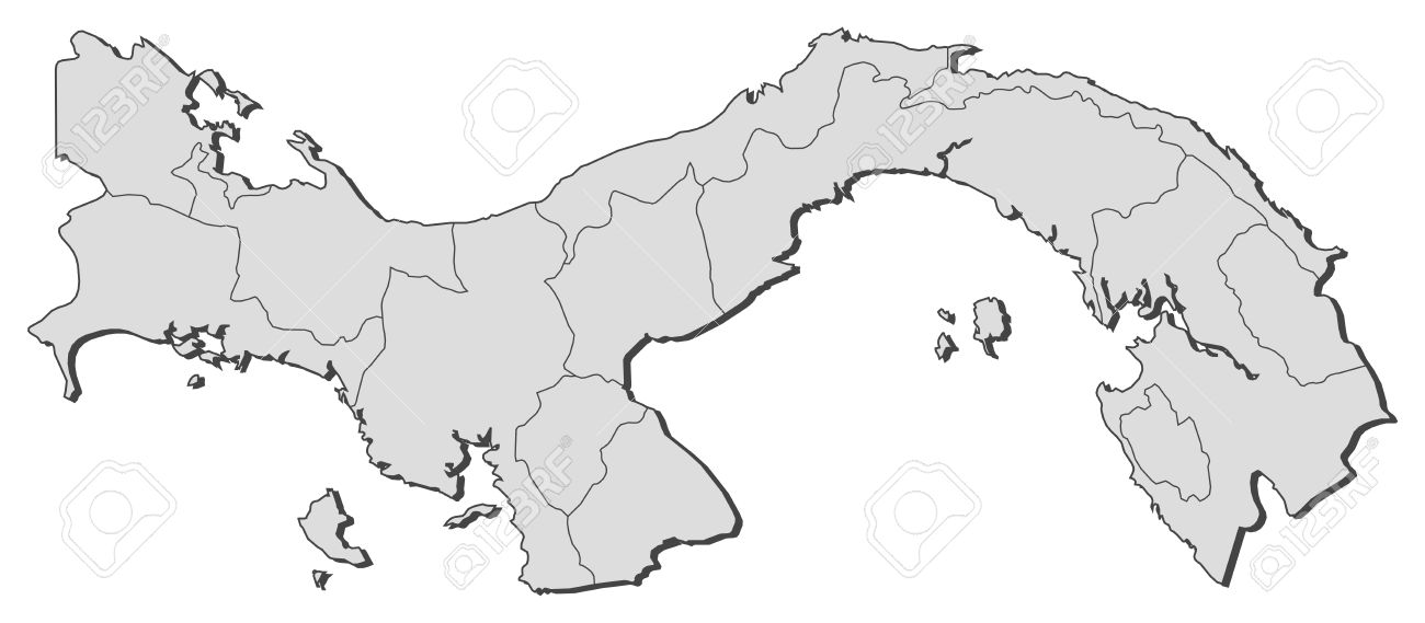 Political map of Panama with the several provinces. Stock Vector - 11392762