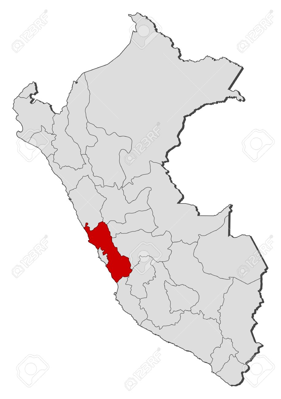 Political Map Of Peru With The Several Regions Where Lima Is - Peru political map