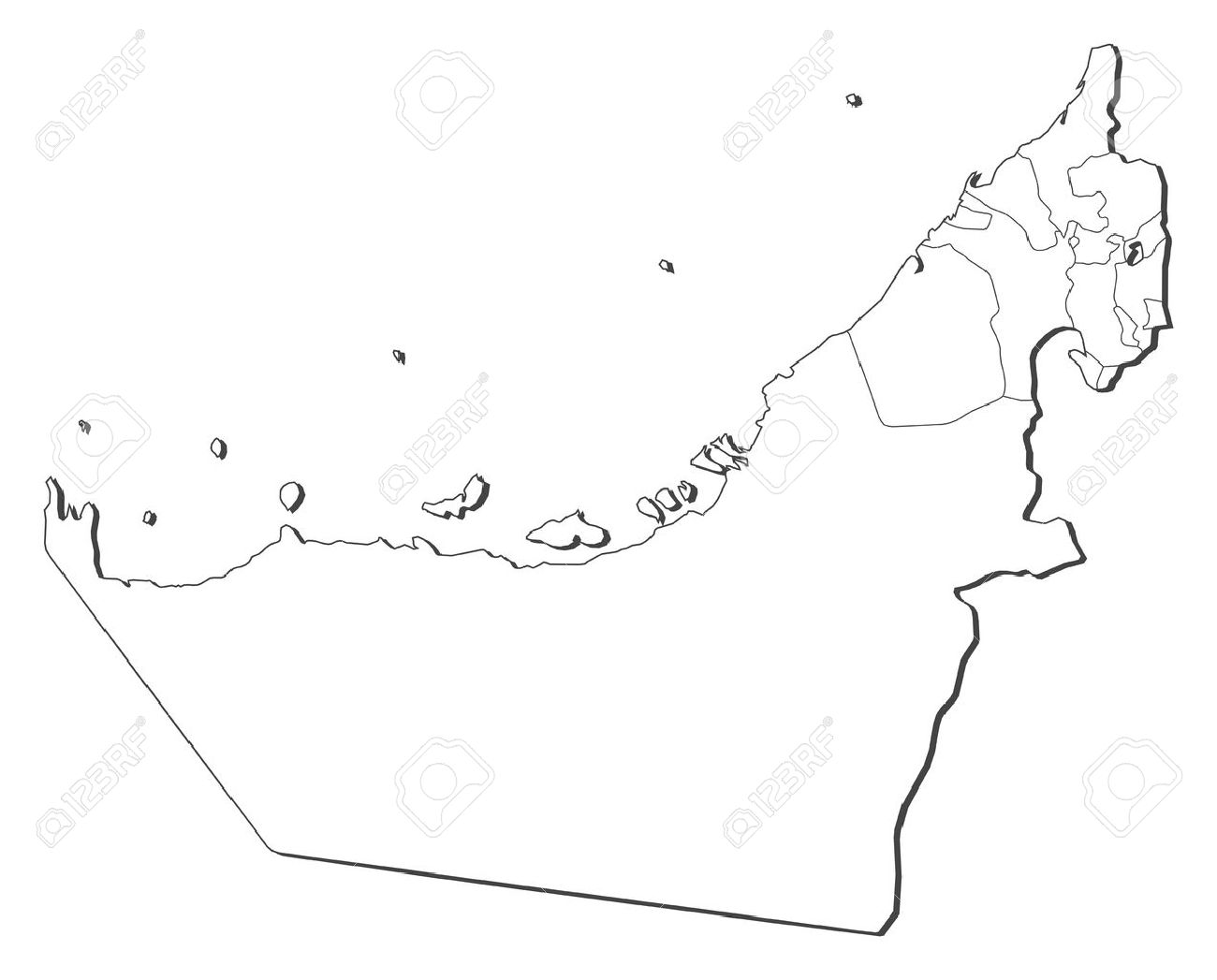 geography blog united arab emirates outline maps
