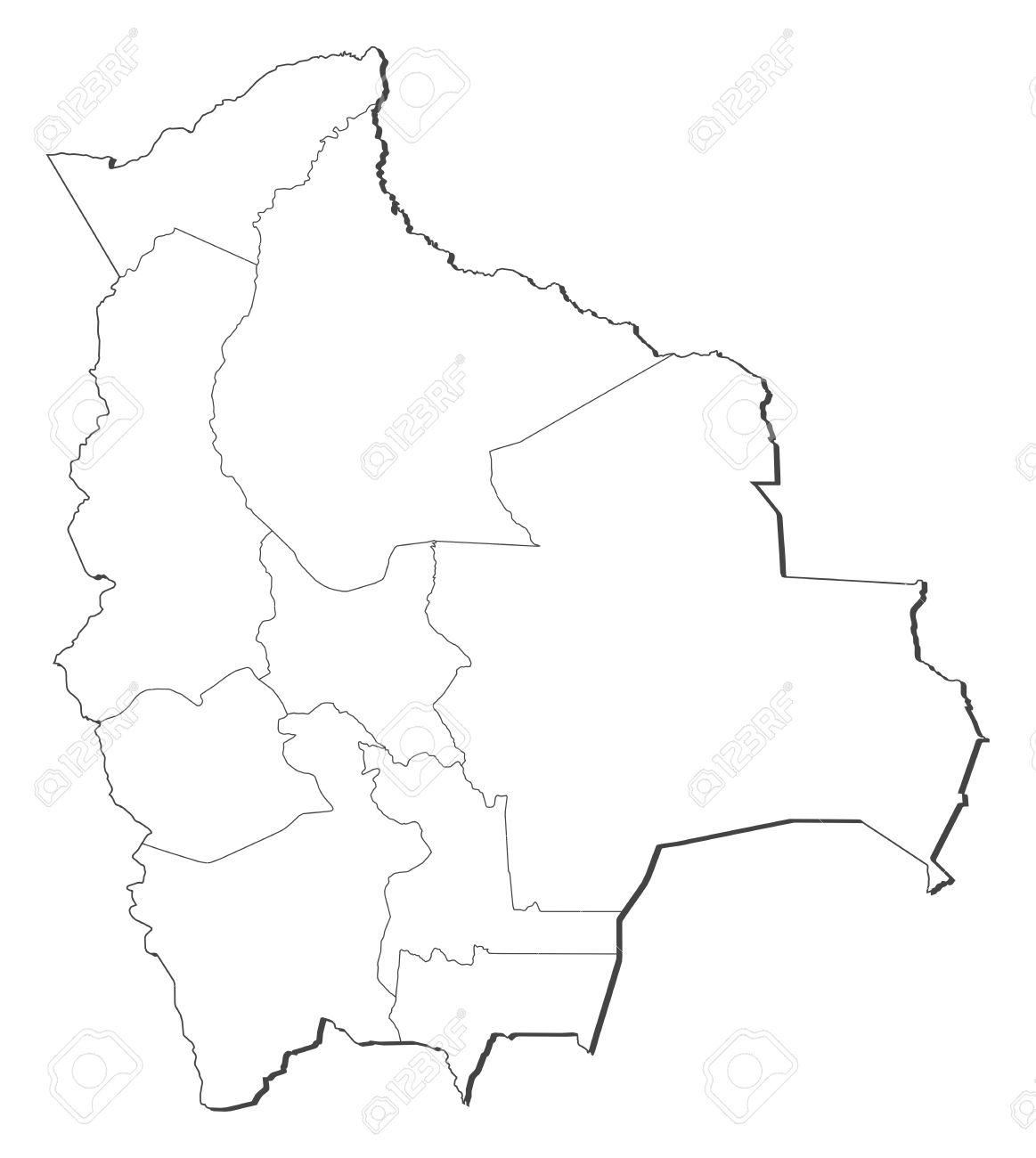 Bolivia Map Stock Vector Volina 1205344 Map Administrative