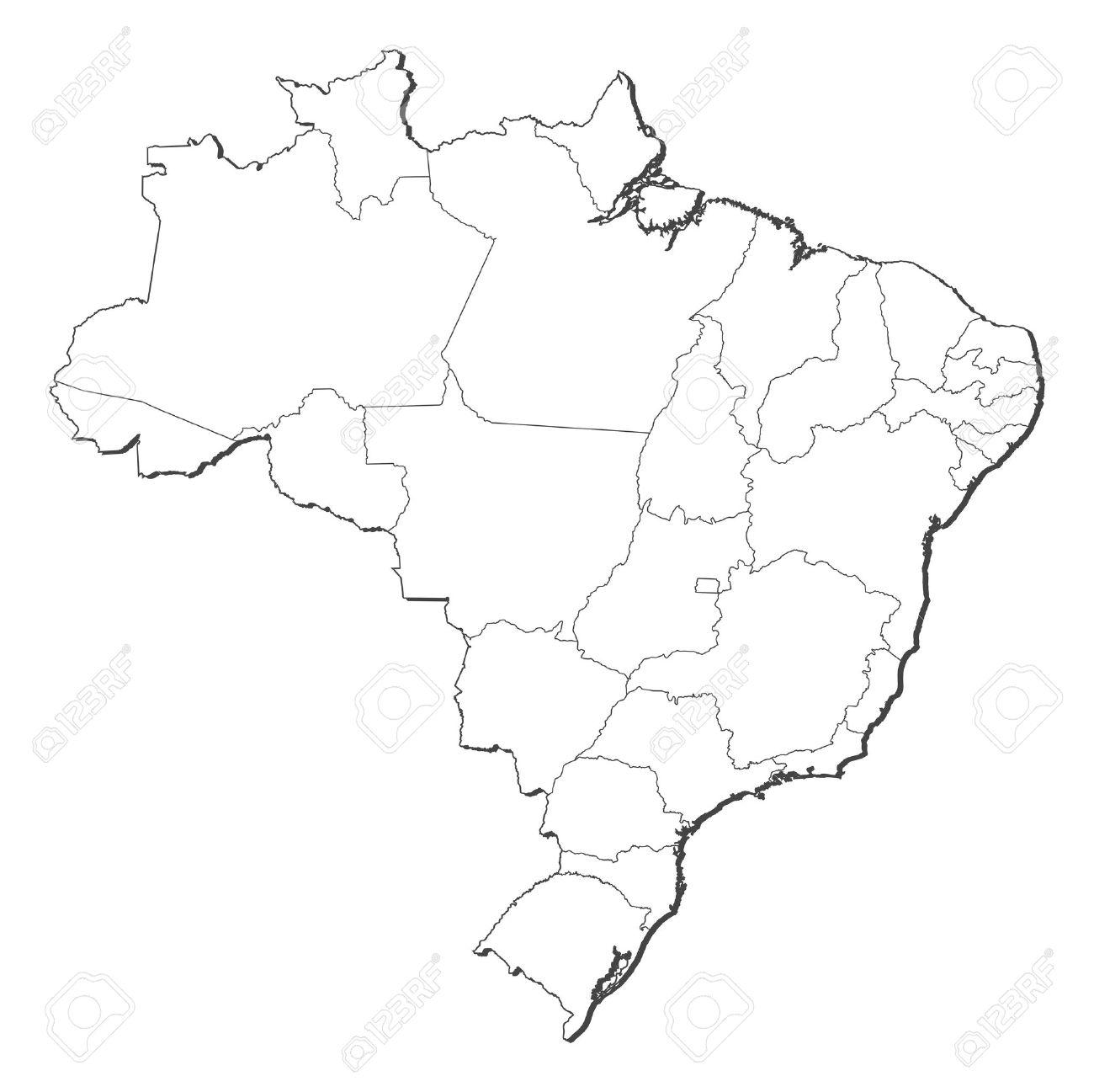 Brazil Map Cliparts Stock Vector And Royalty Free Brazil - Brazil map illustration