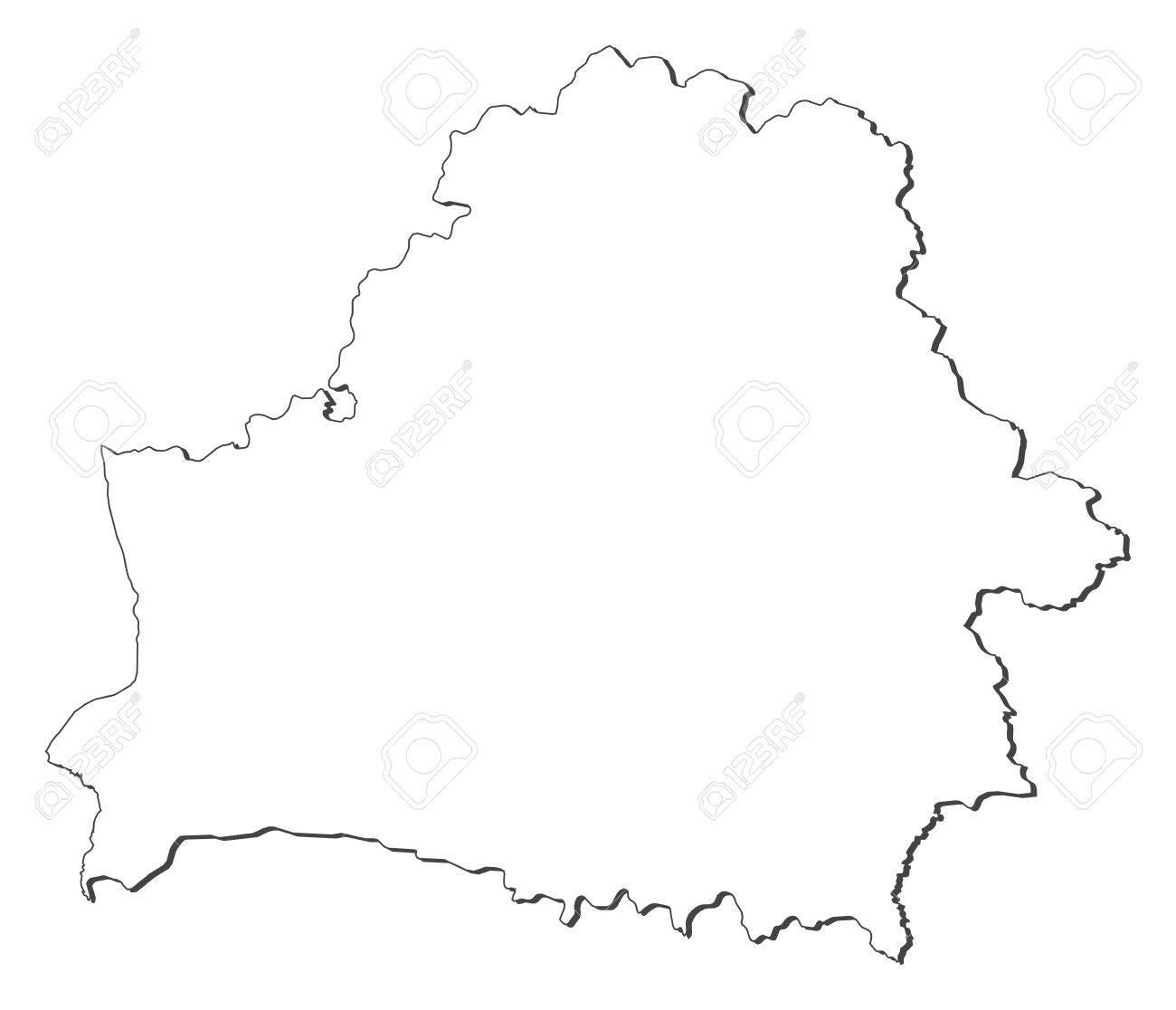 картинки карта беларуси контур