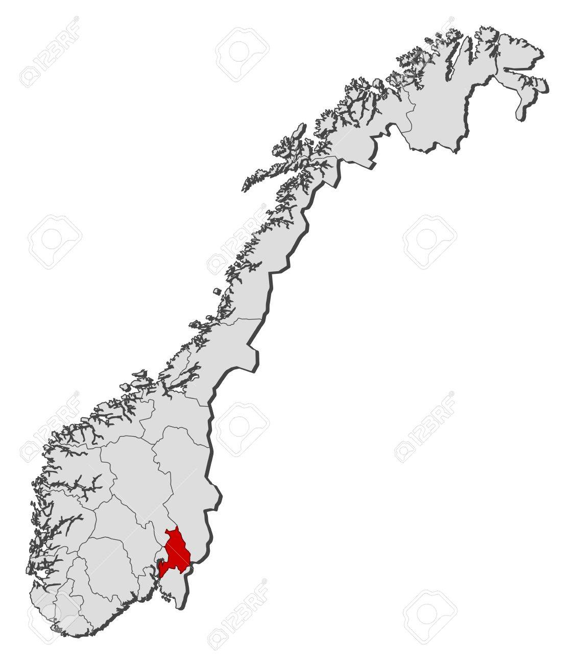 Political Map Of Norway With The Several Counties Where Akershus - Norway on us map