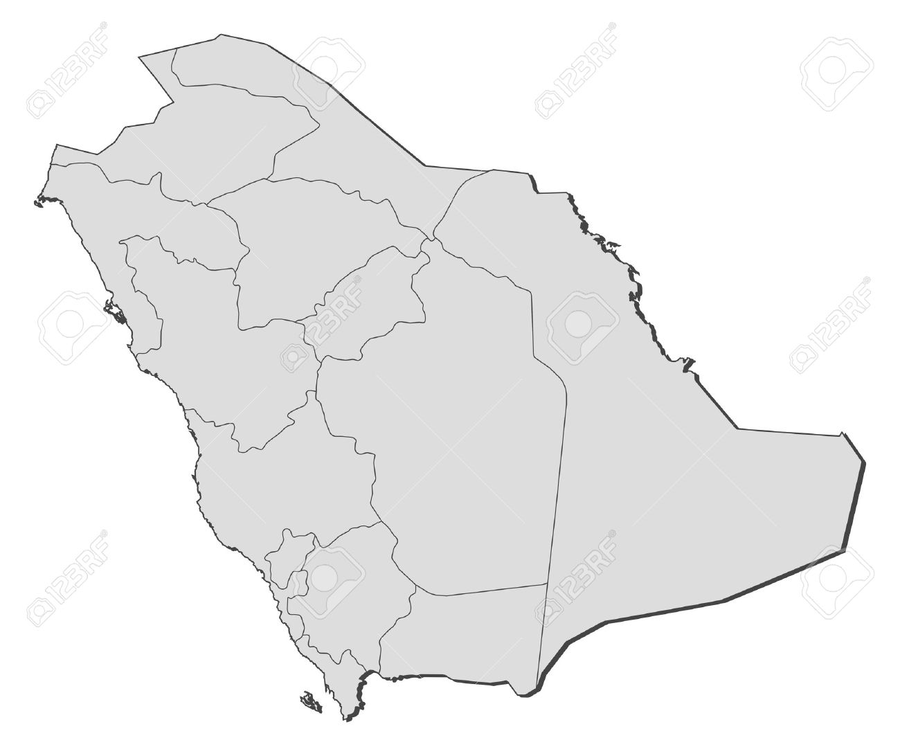 political map of saudi arabia with the several provinces stock vector 11451499
