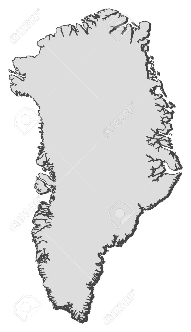 Political Map Of Greenland With The Several Municipalities Royalty