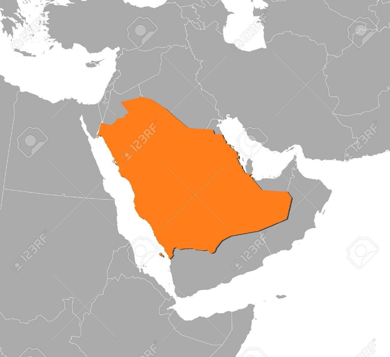 Political map of Saudi Arabia with the several provinces. - 11451884
