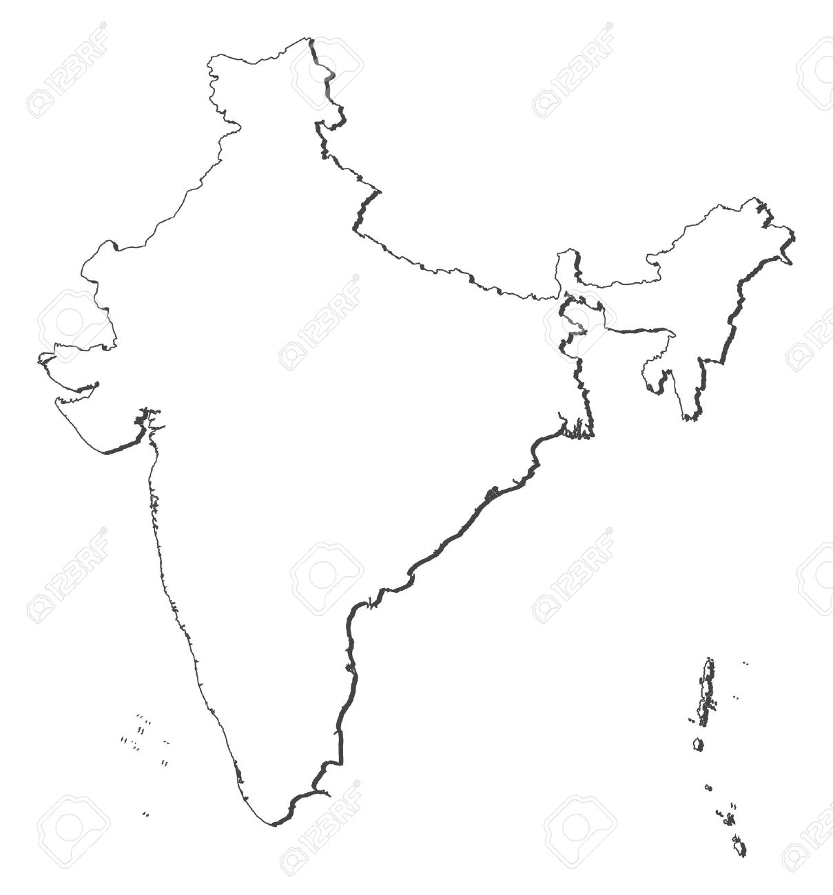 Political map of India with the several states. - 11451575