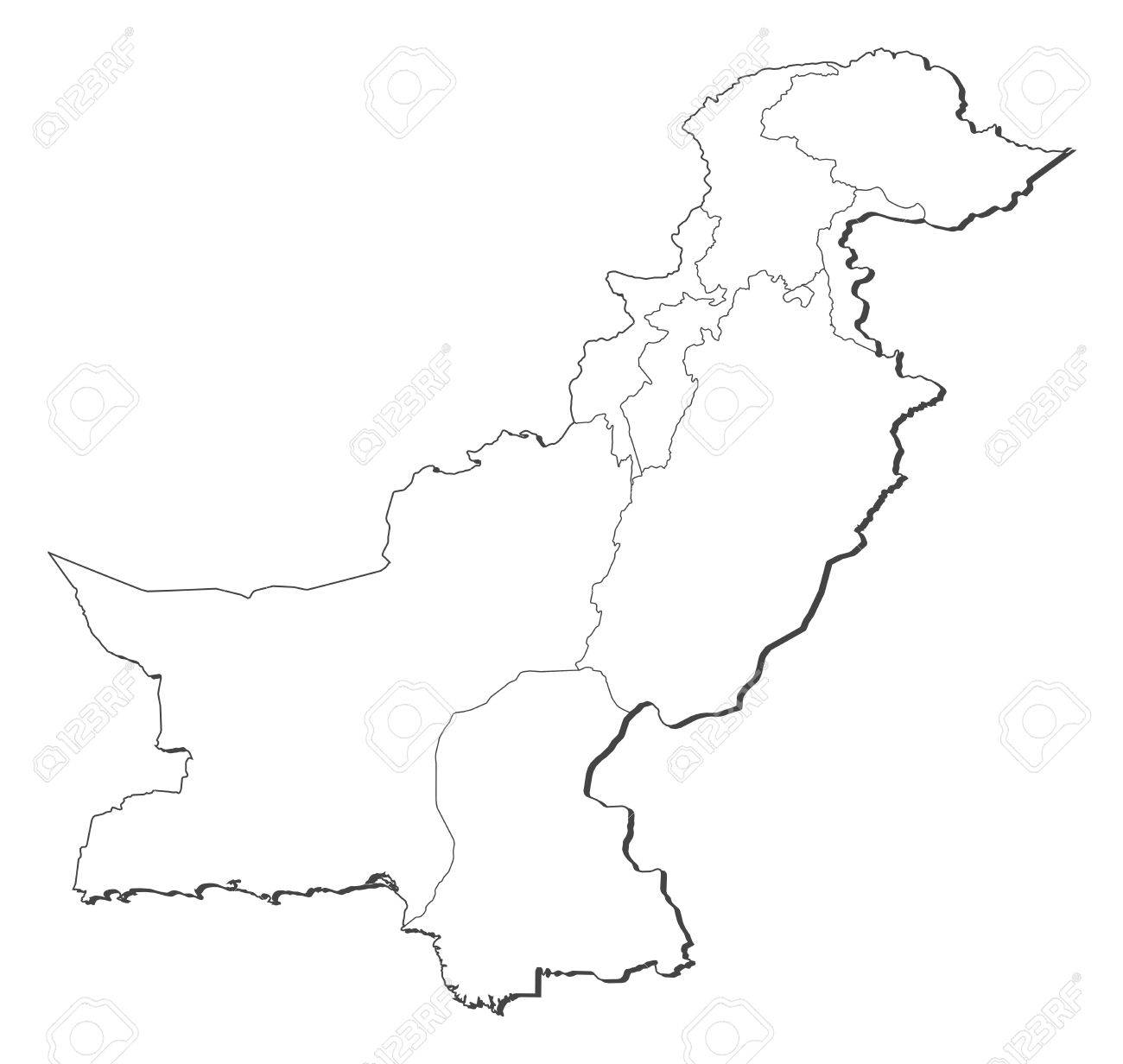 political map of pakistan with the several provinces jpg coloring pages