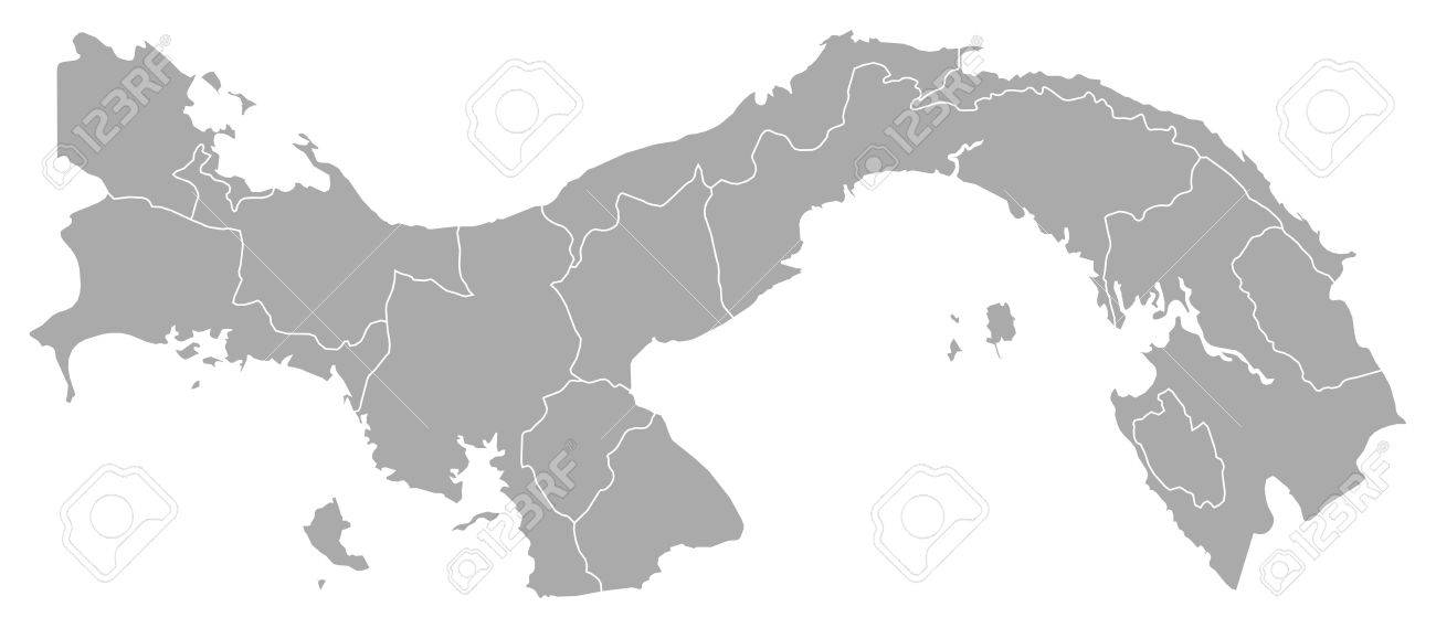 Political Map Of Panama With The Several Provinces Royalty Free