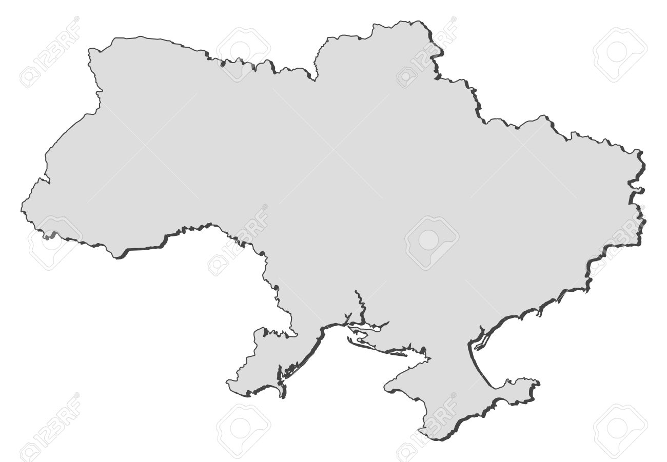 Ukraine Map Outline Political map of Ukraine with
