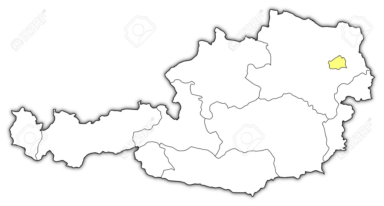 Political Map Of Austria With The Several States Where Vienna - Political map of austria