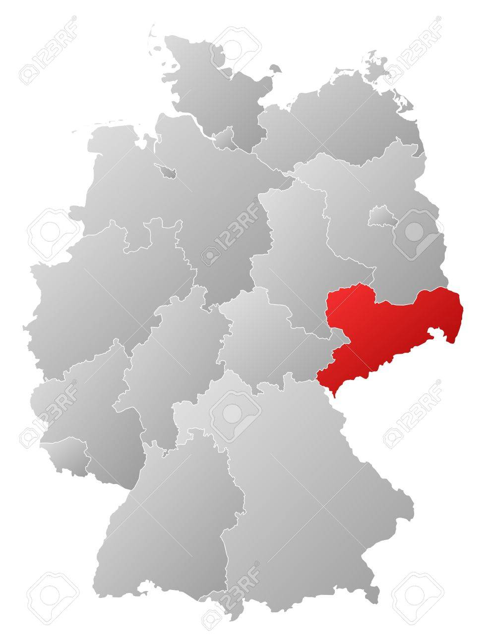 Political map of germany with the several states where saxony political map of germany with the several states where saxony is highlighted stock vector gumiabroncs Choice Image