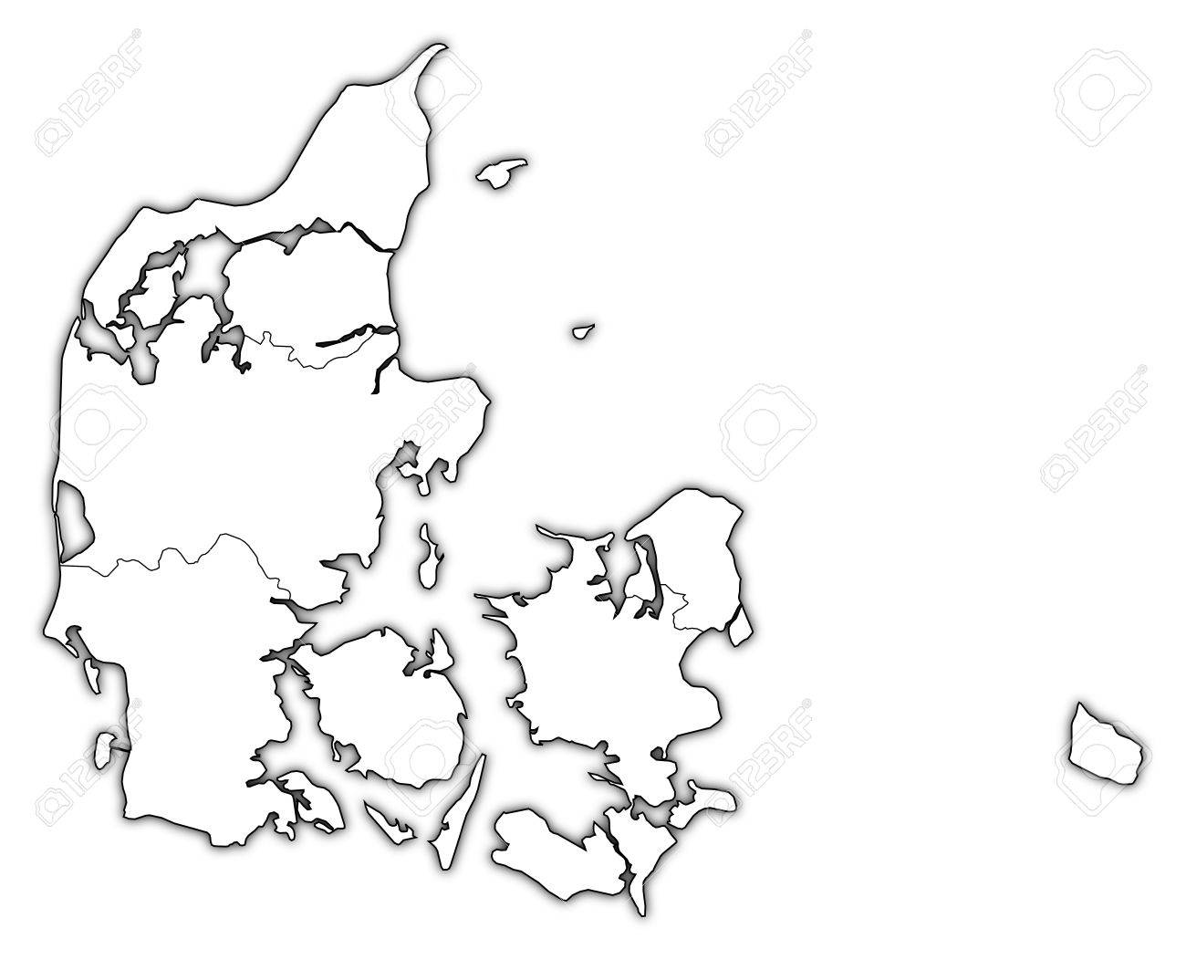 Political map of Danmark with the several regions. Stock Vector - 11566207