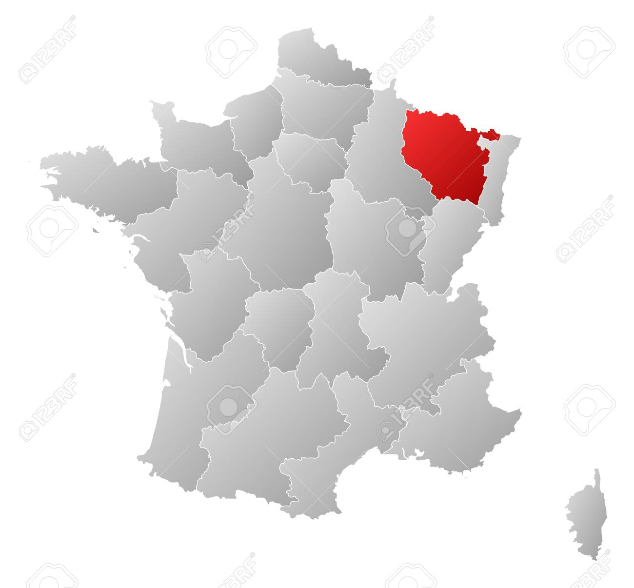 Image of: Political Map Of France With The Several Regions Where Lorraine Royalty Free Cliparts Vectors And Stock Illustration Image 11566312