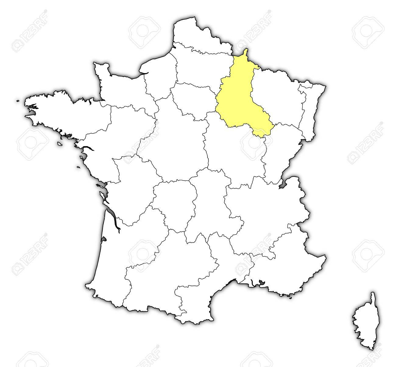 Champagne France Map on