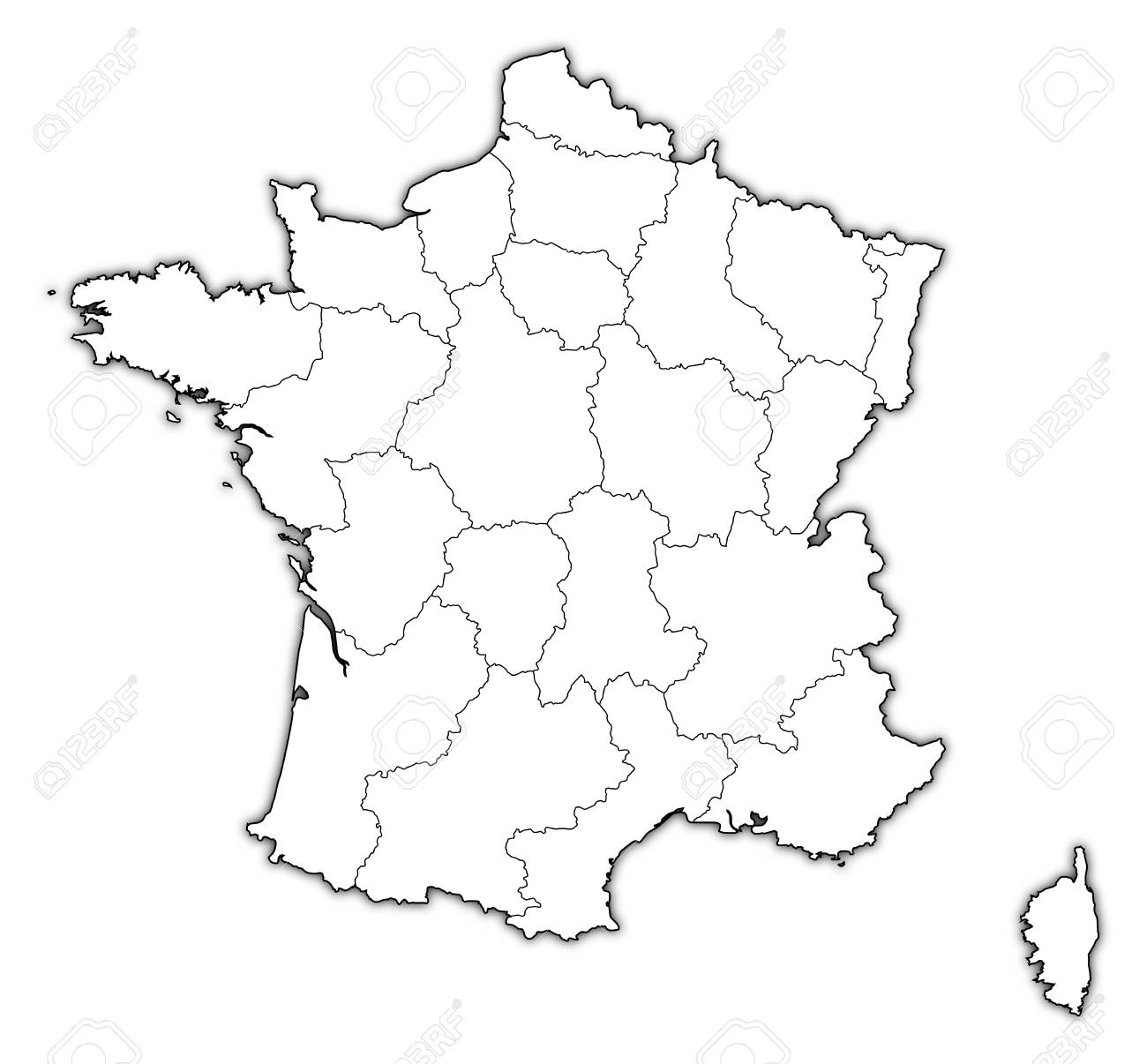 Political Map Of France With The Several Regions Royalty Free Cliparts Vectors And Stock Illustration Image 11566348