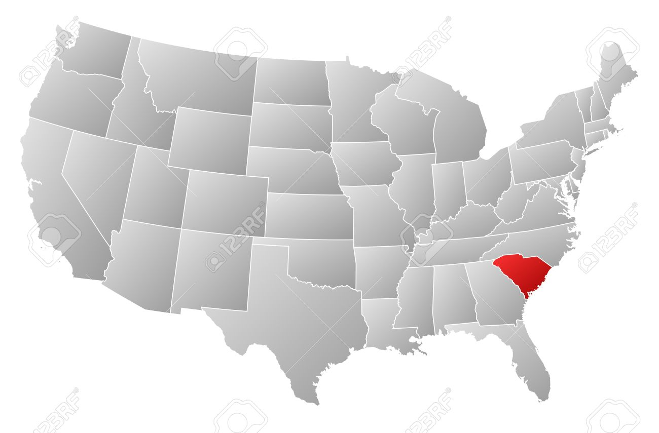 Political Map Of United States With The Several States Where - North carolina on the us map