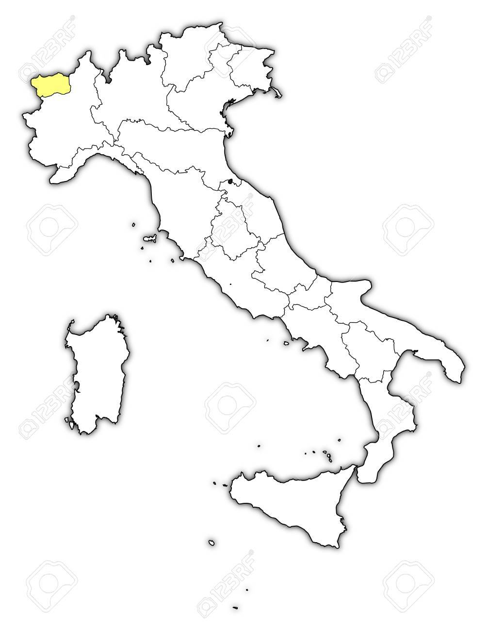 Cartina Valle D Aosta Muta.Vettoriale La Mappa Politica D Italia Con Le Varie Regioni In Cui E Evidenziato Valle D Aosta Image 13912604