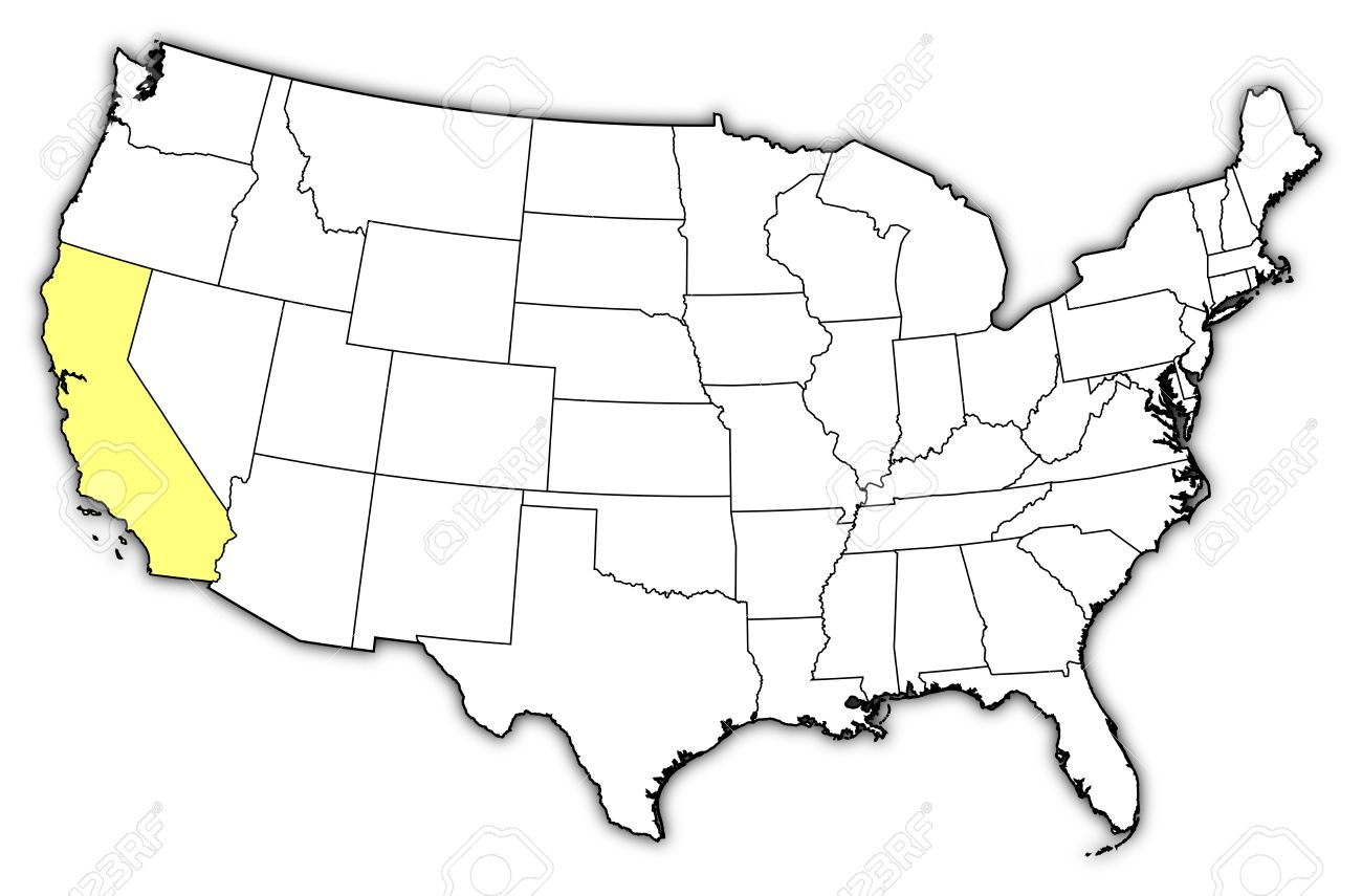 Political Map Of United States With The Several States Where - Map of us arkansas