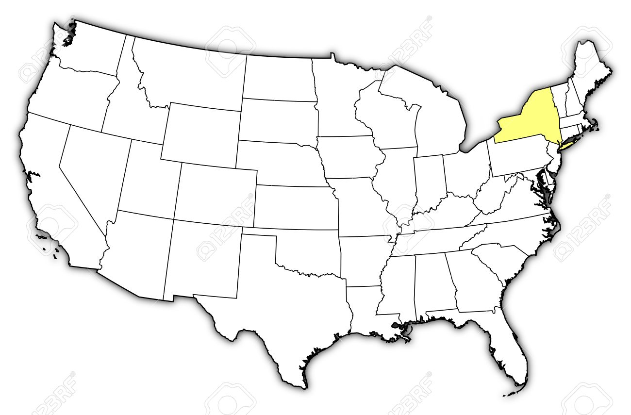 Political Map Of United States With The Several States Where - Highlight-states-on-us-map