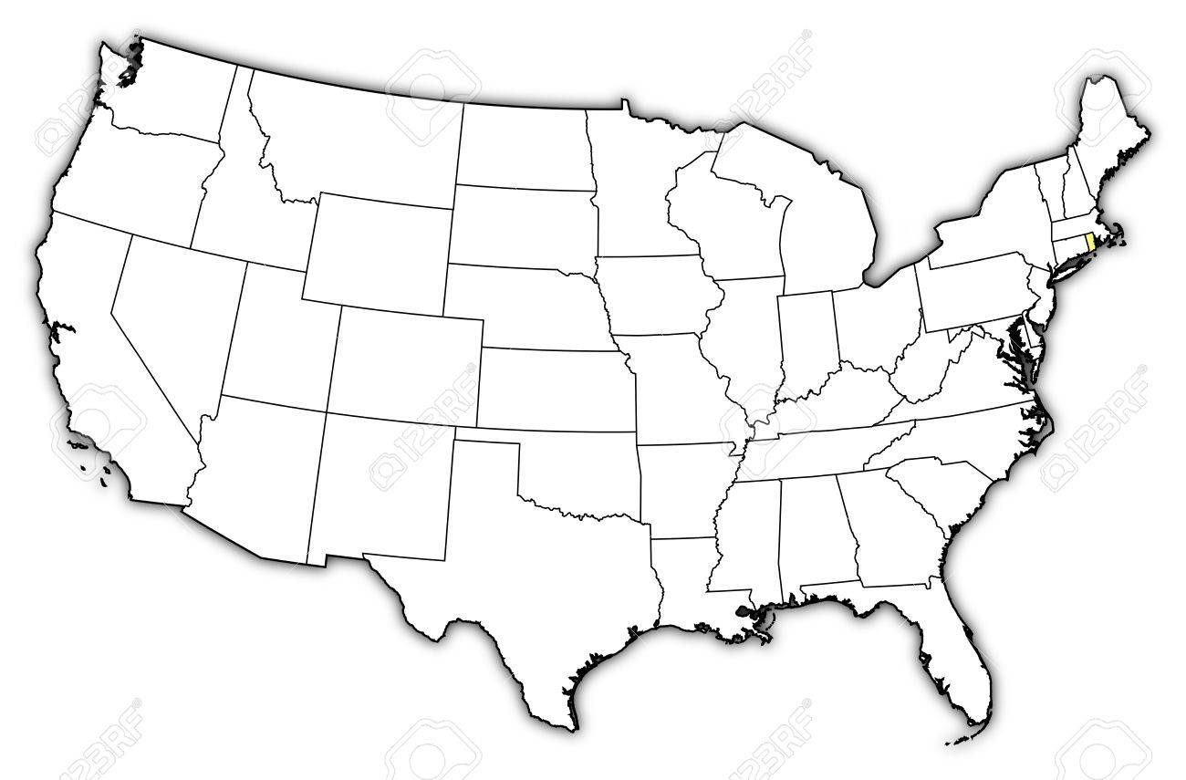 Political Map Of United States With The Several States Where - Rhode island on the us map