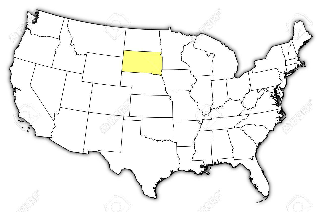 South dakota location on the us map south dakota wikipedia south political map of united states with the several states where south dakota on the us sciox Images