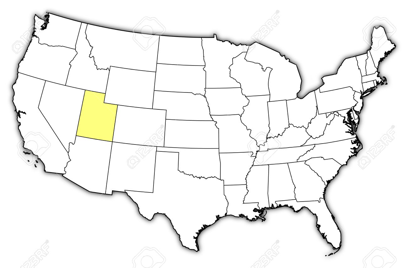 Utah United States Map.Political Map Of United States With The Several States Where