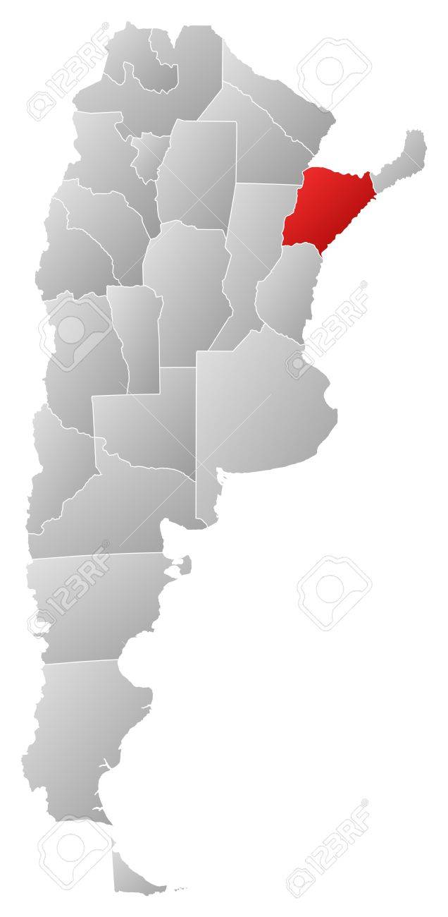Political Map Of Argentina With The Several Provinces Where - Argentina map with provinces