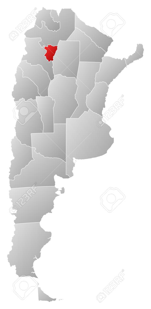 Political map of Argentina with the several provinces where Tucum�n is highlighted. Stock Vector - 14112659