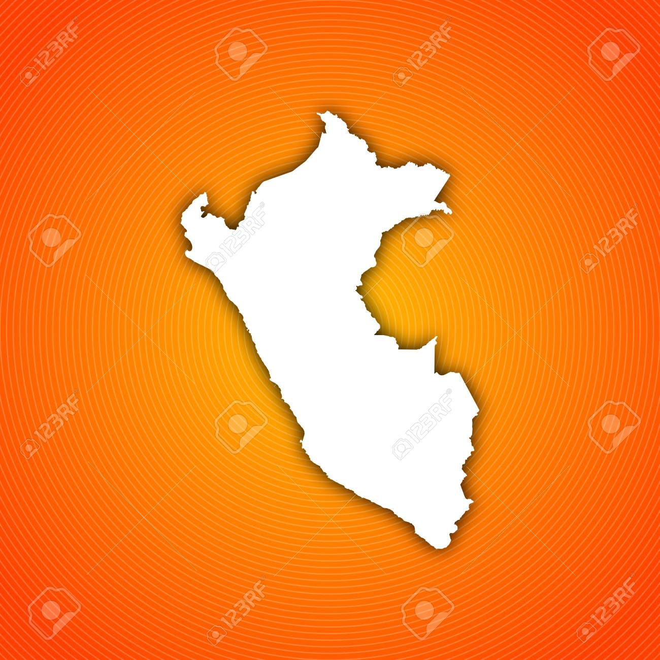 Political Map Of Peru With The Several Regions Stock Photo Picture