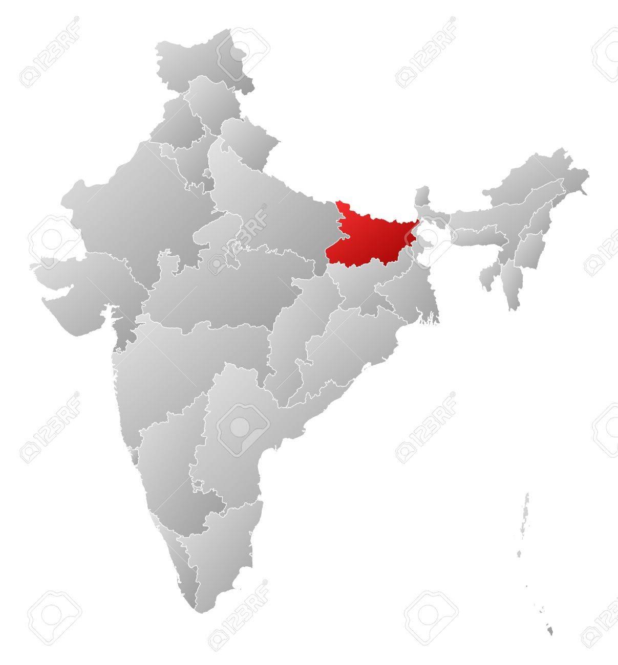 ビハール州は強調表示されますい...