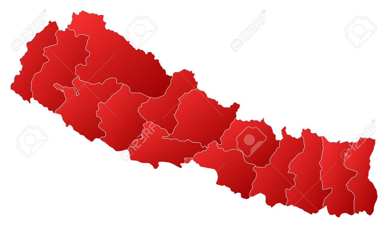 Political map of Nepal with the several zones. Stock Vector - 14274023