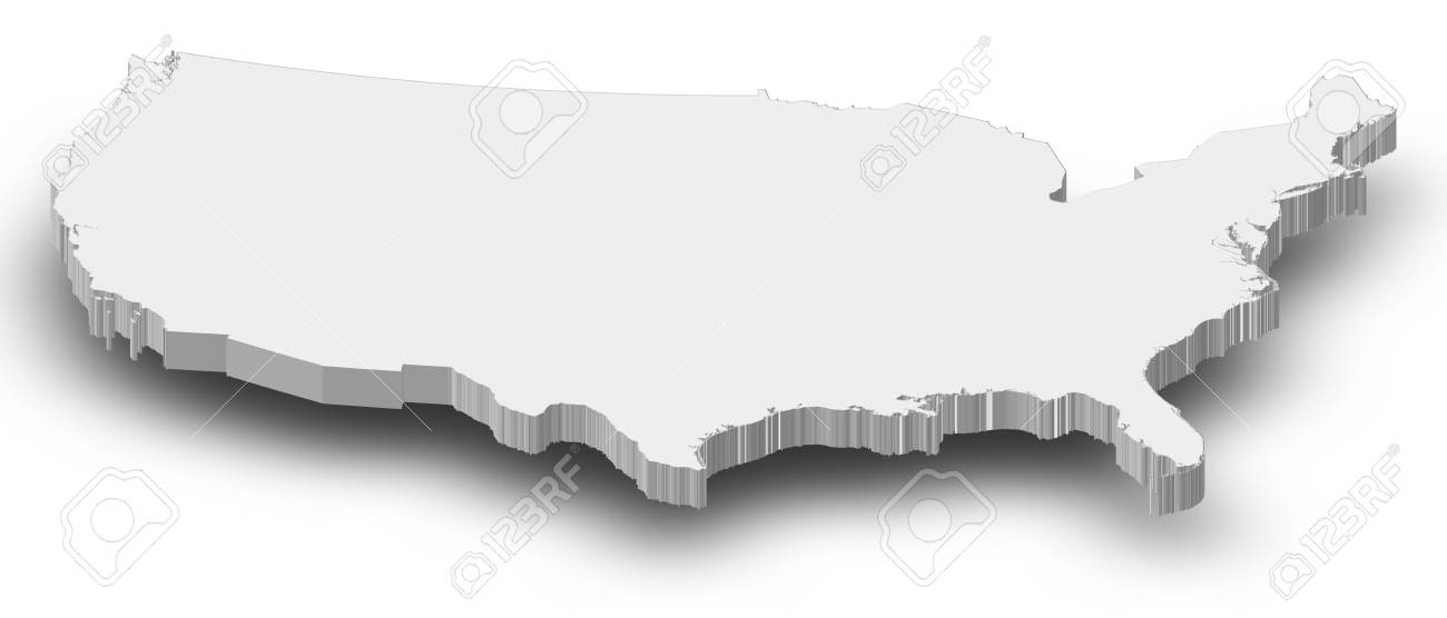 Political map of the United States with the several states. - 14324441