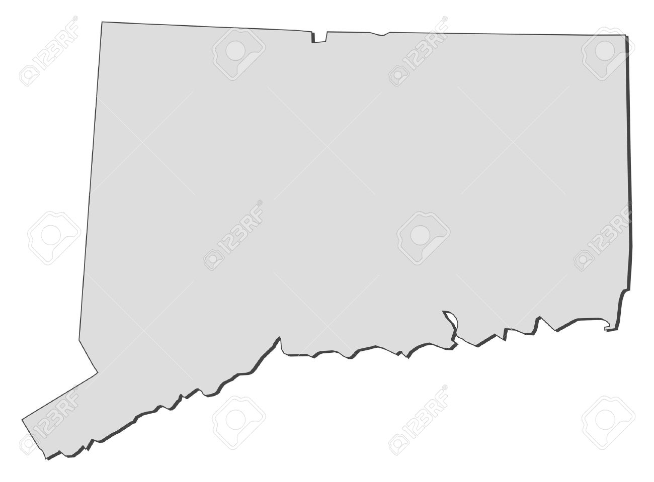 Map Of Connecticut A State Of United States Stock Vector 14368574