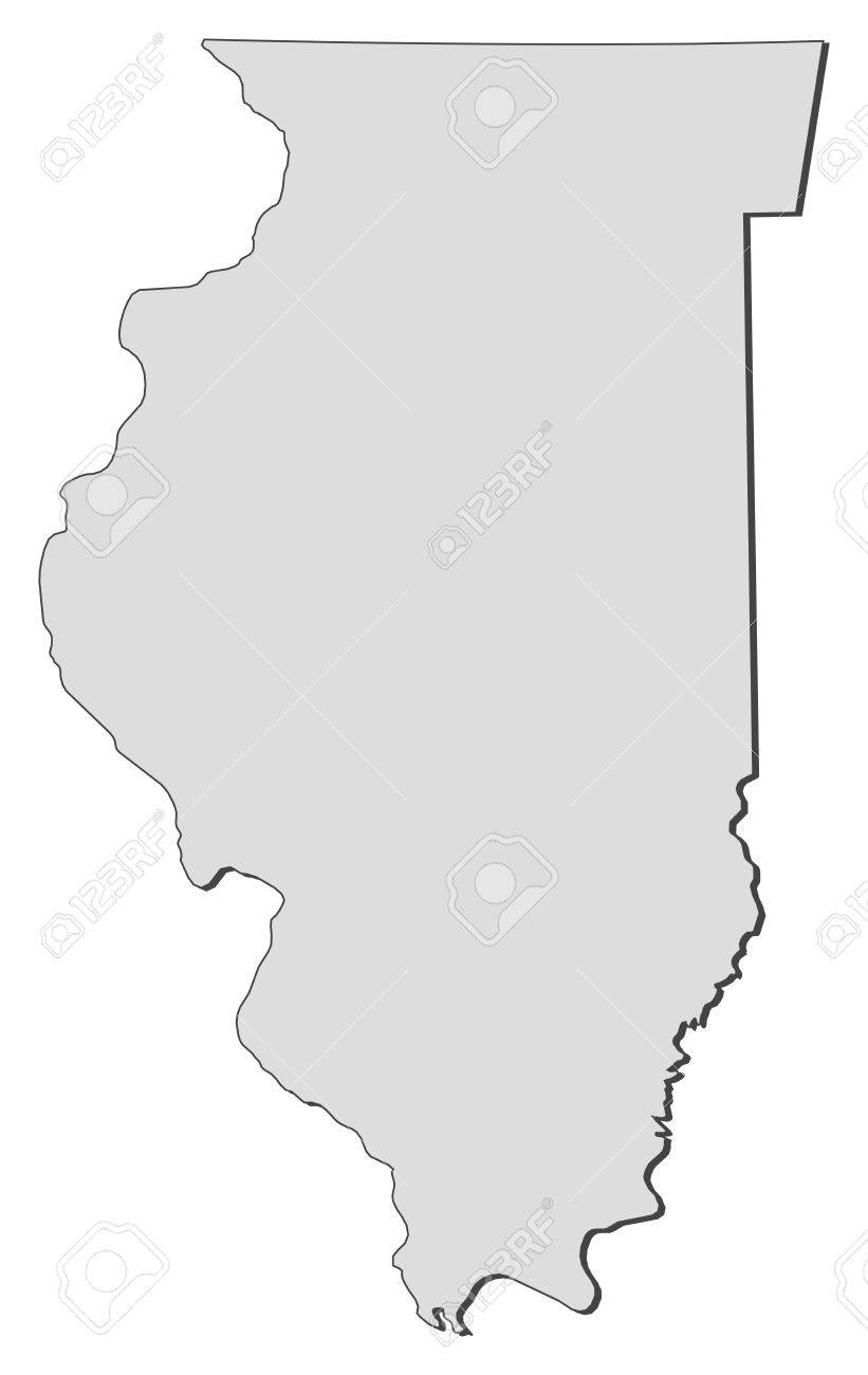 Us Map Illinois Map Of Illinois A State Of United States Stock - United states map illinois
