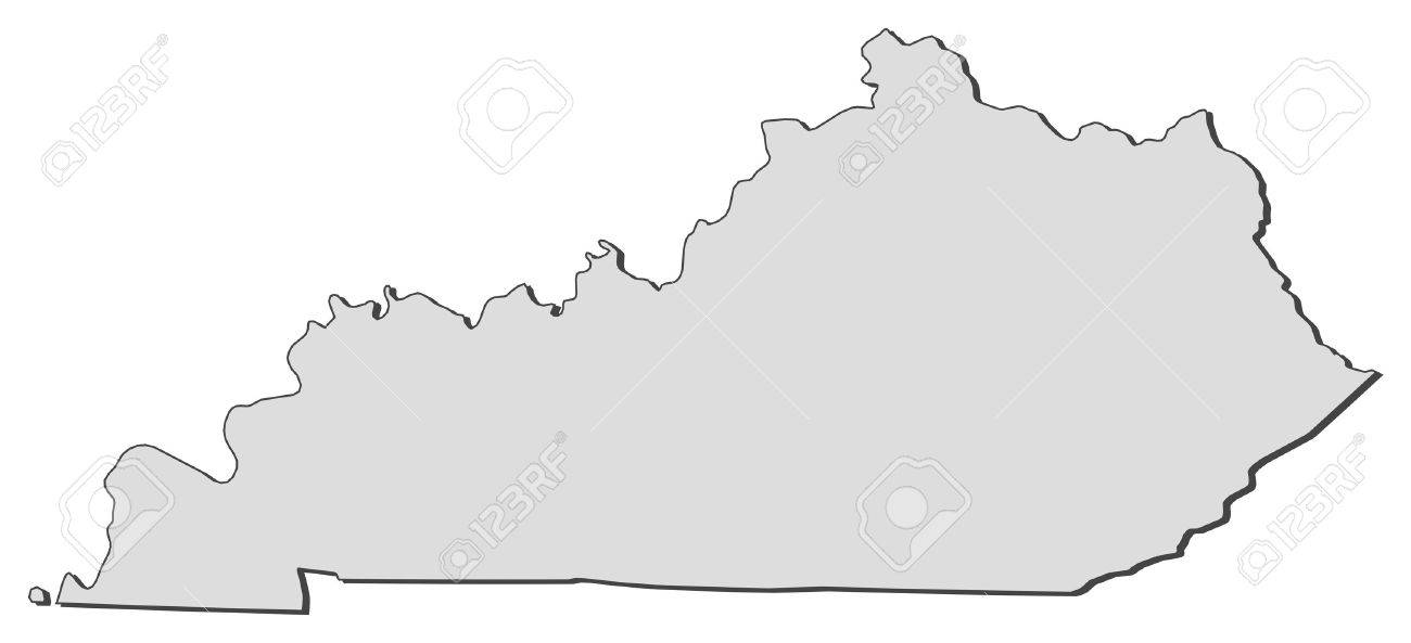 Map Of Kentucky, A State Of United States. Royalty Free Cliparts ...
