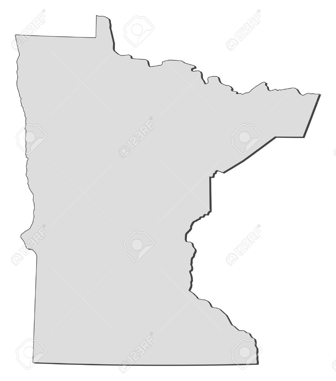 Map Of Minnesota A State Of United States Royalty Free Cliparts - State of mn map