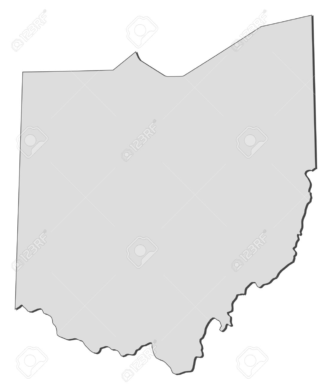 Ohio United States Map.Map Of Ohio A State Of United States Royalty Free Cliparts
