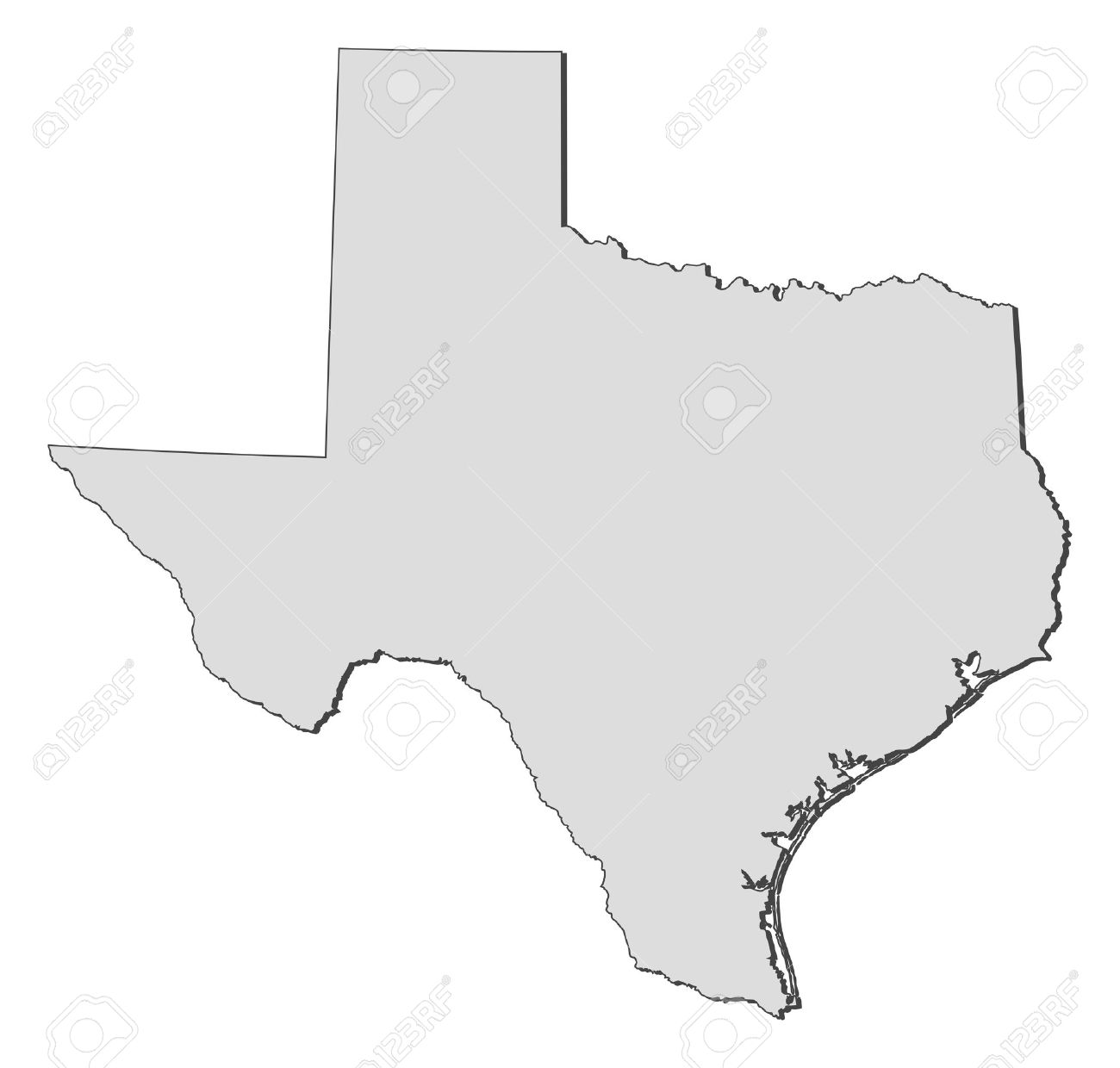 Map Of Texas A State Of United States Royalty Free Cliparts - Mapa texas