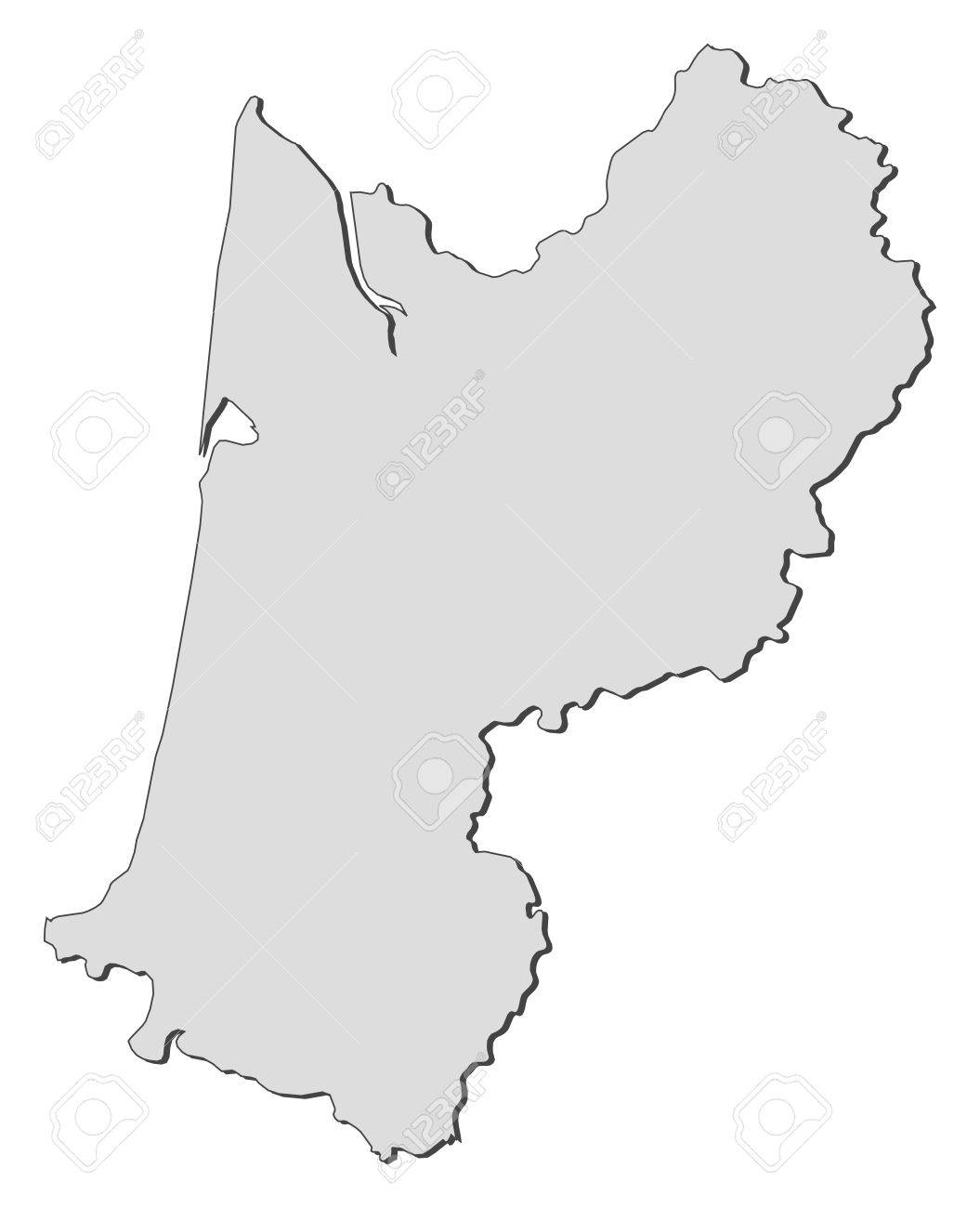 Map Of Aquitaine A Region Of France Royalty Free Cliparts Vectors