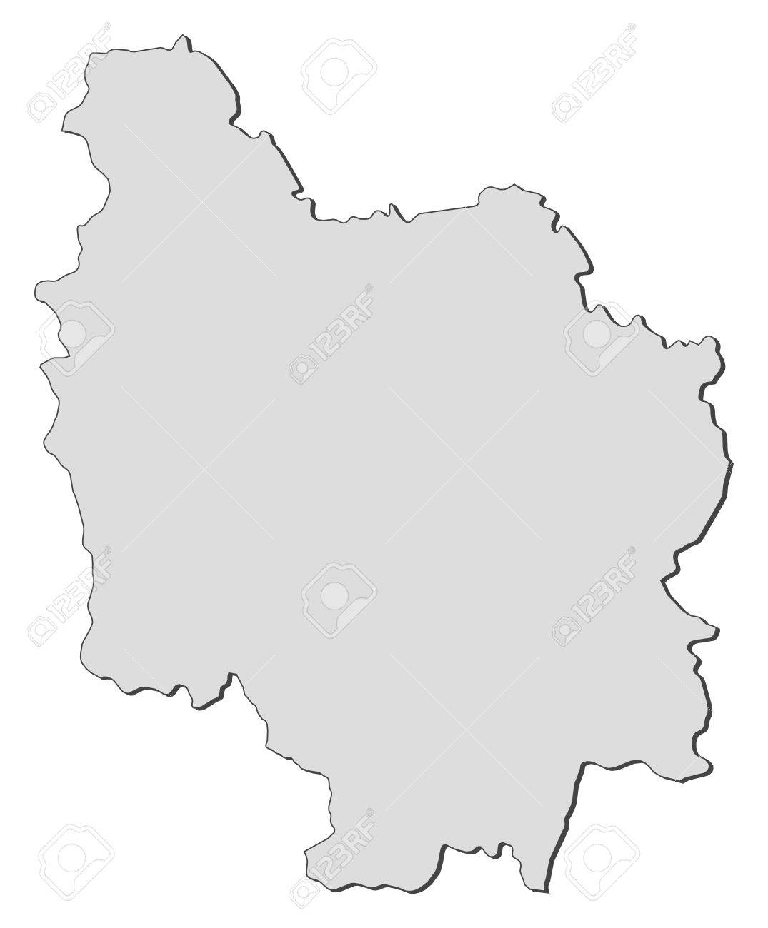 map of burgundy a region of france royalty free cliparts