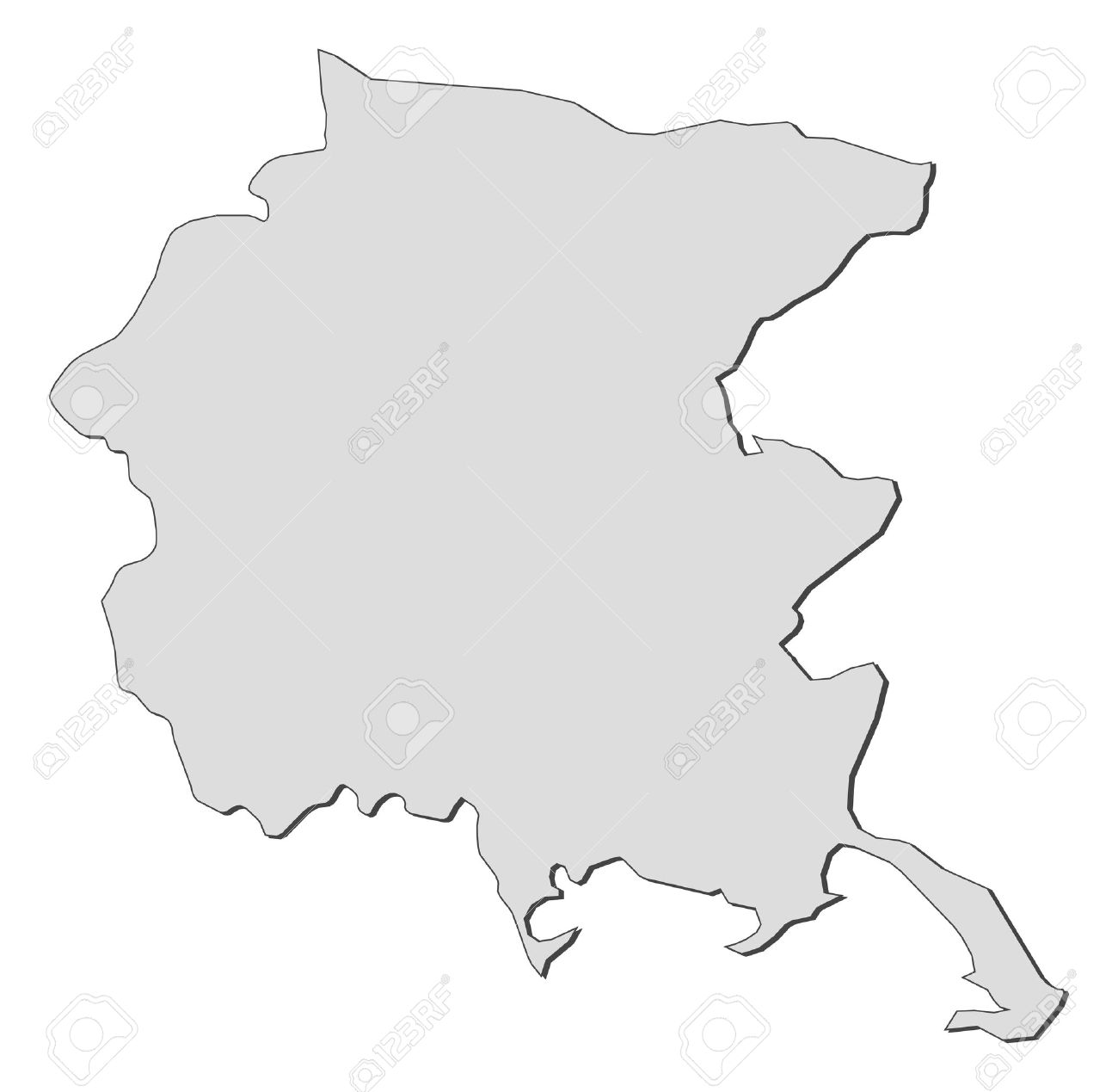 Friuli Italy Map.Map Of Friuli Venezia Giulia A Region Of Italy Royalty Free
