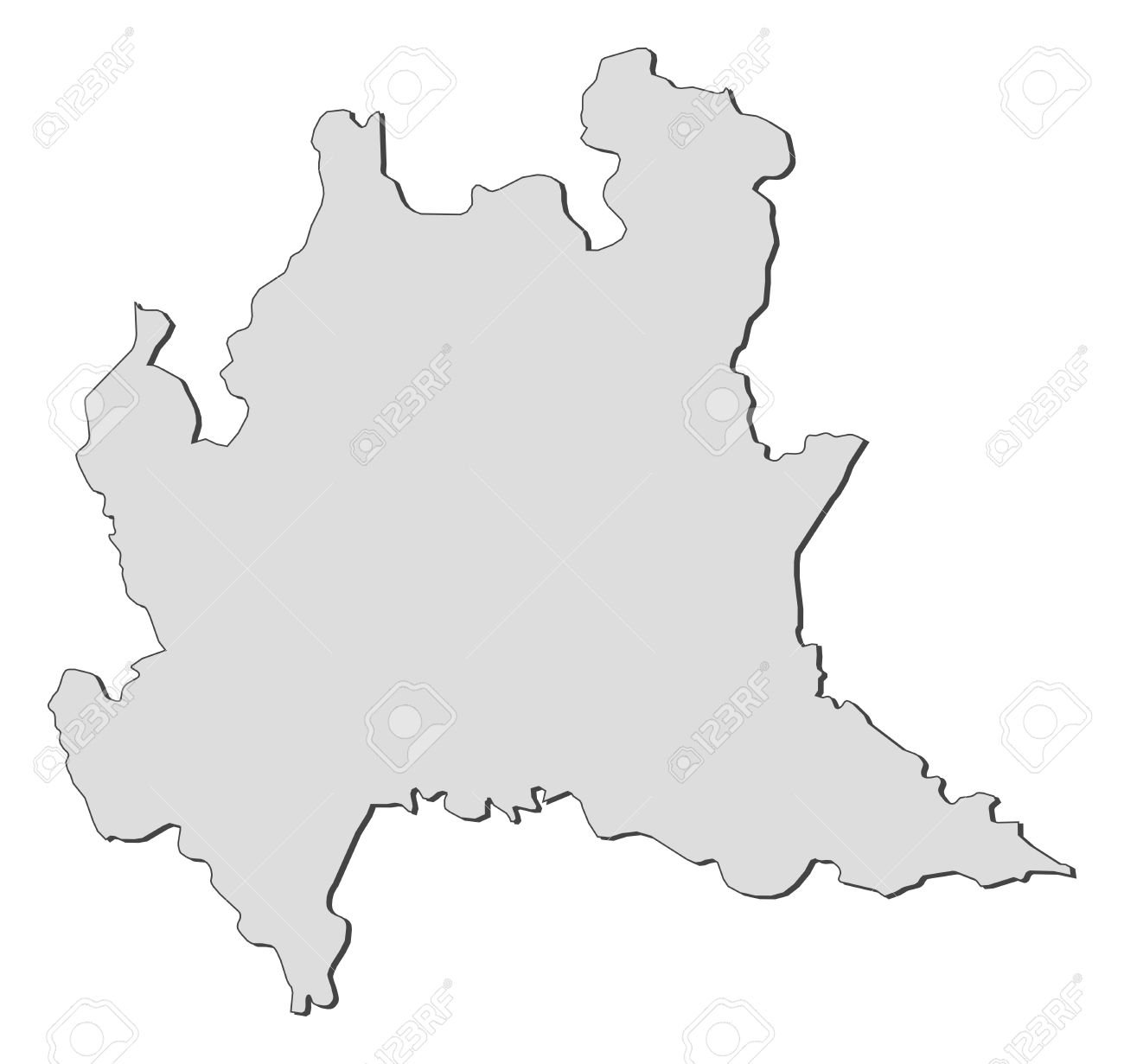 Map of Lombardy, a region of Italy. - 14396198