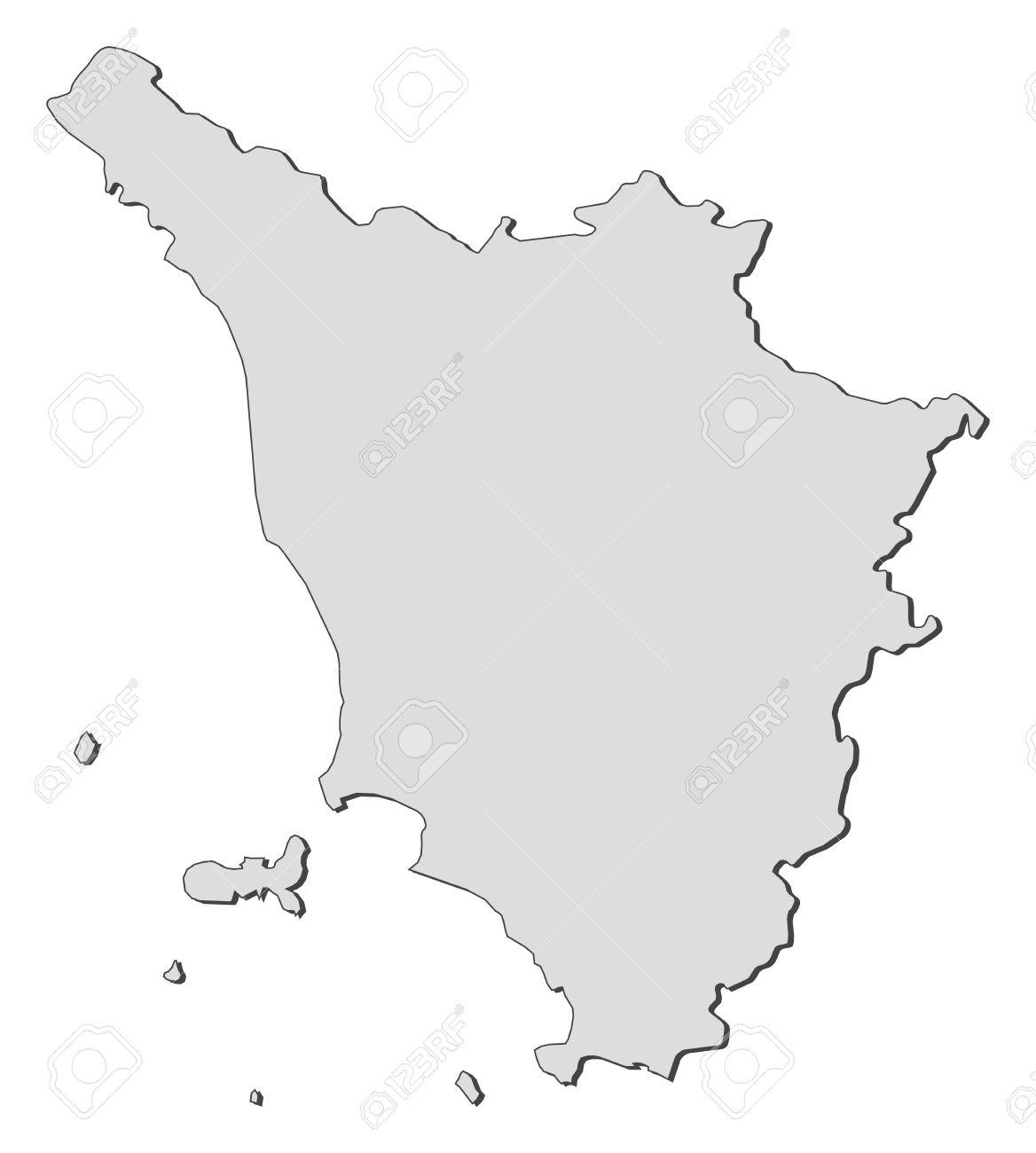 Map Of Tuscany A Region Of Italy Royalty Free Cliparts Vectors - Tuscany region map