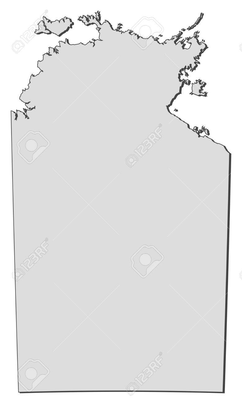 Northern Australia Map.Map Of Northern Territory A State Of Australia Royalty Free