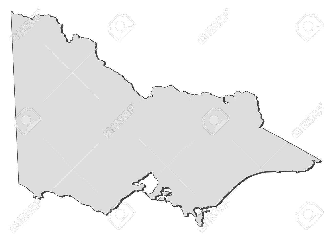 Victoria State Australia Map.Map Of Victoria A State Of Australia Royalty Free Cliparts