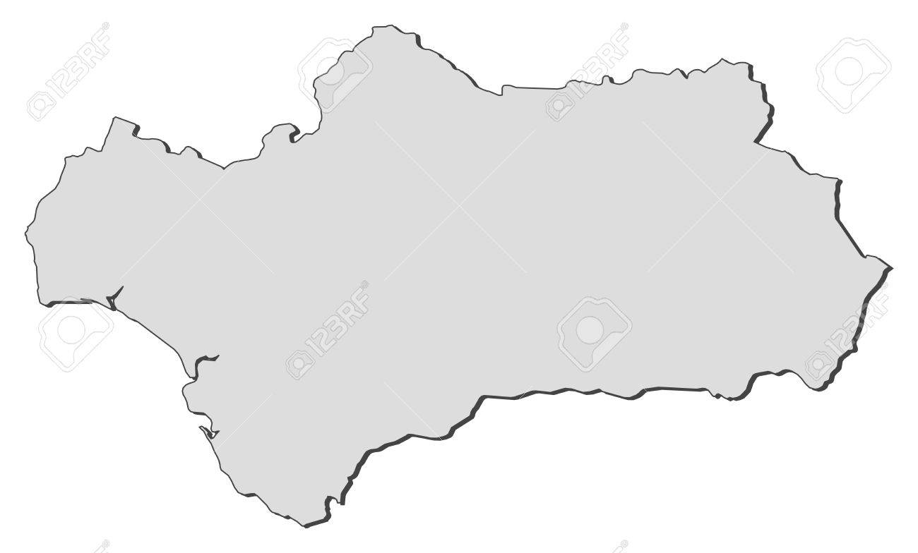 Map Of Andalusia A Region Of Spain Royalty Free Cliparts - Map of andalusia