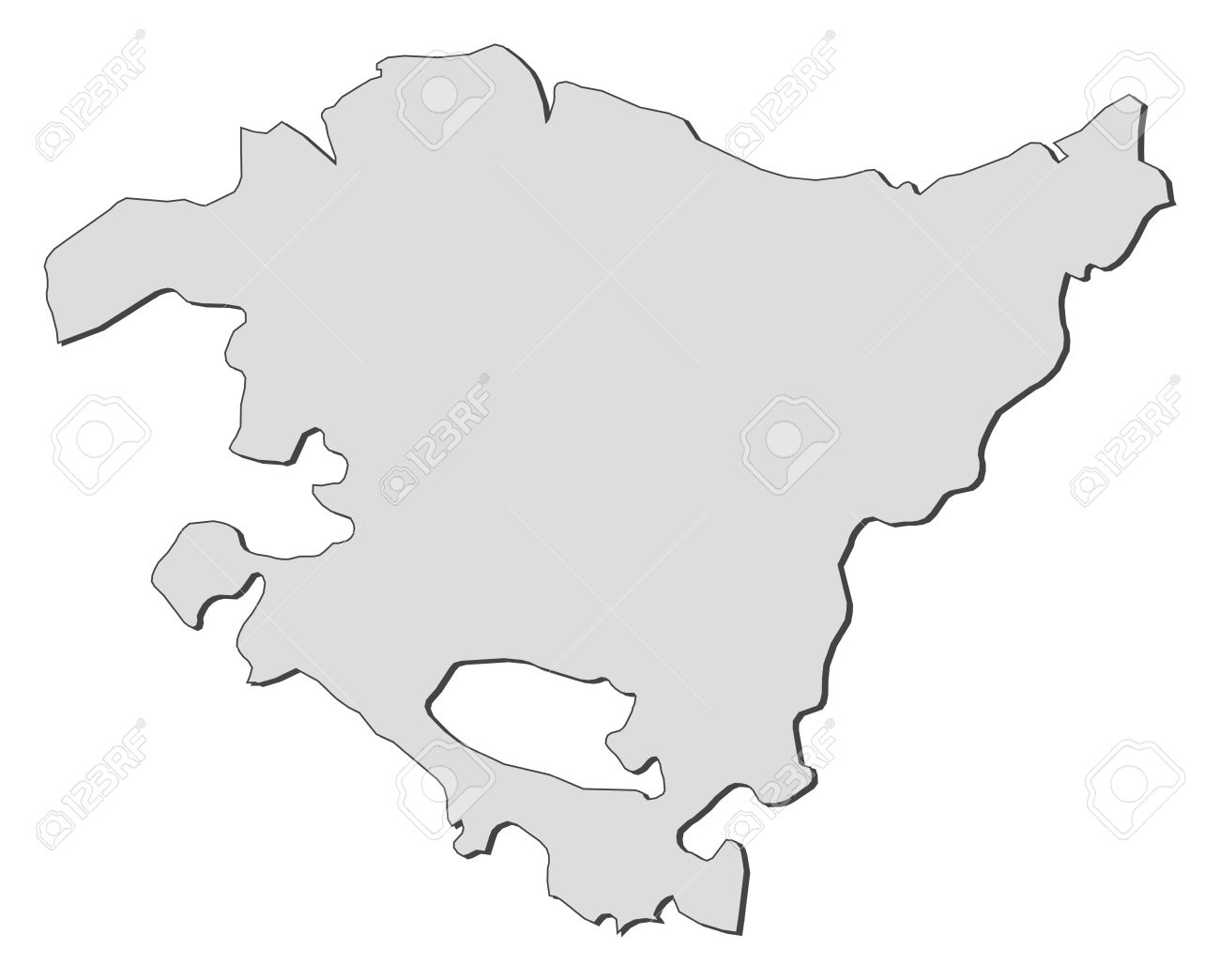 Map Of Basque Country A Region Of Spain Royalty Free Cliparts