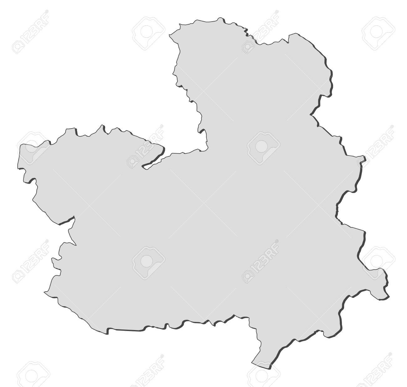 La Mancha Spain Map.Map Of Castile La Mancha A Region Of Spain Royalty Free Cliparts
